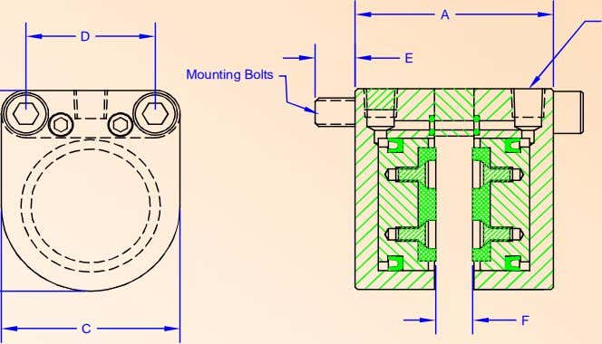A D E Mounting Bolts F C