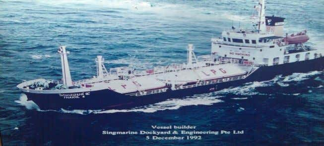 Local knowledge Sherpa Offshore Thai Oil 4 1300 m3 LPG Carrier (2 cylindrical tanks x 650