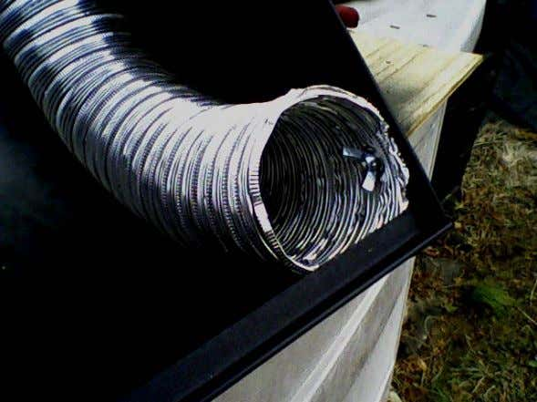 in the side of the tubing. Run the bolt through the lid and tubing, add the