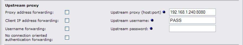 The username PASS must be entered in upper case: Note: If you enter a password, the