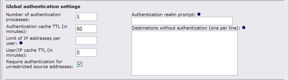 for all authentication methods except for the identd method. 5.2.1 Number of authentication processes The number