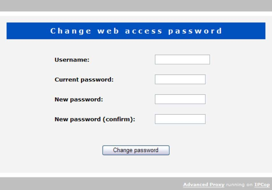 password and the new password (twice for confirmation): Web page dialog language The language for this