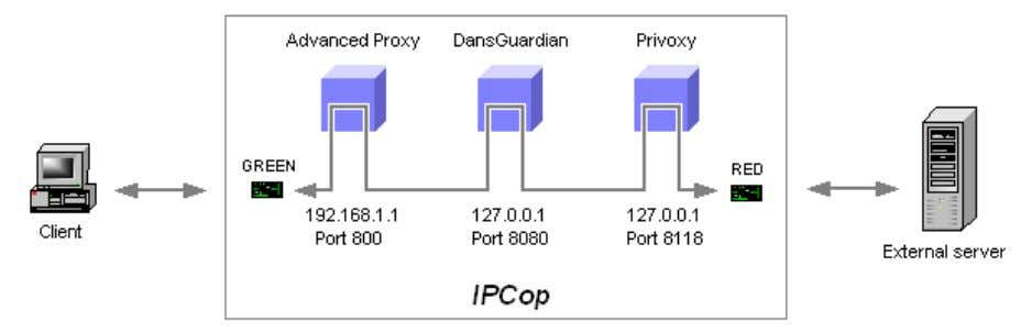 Advanced Proxy must be the first proxy in this chain: Advanced Proxy settings: These settings enables