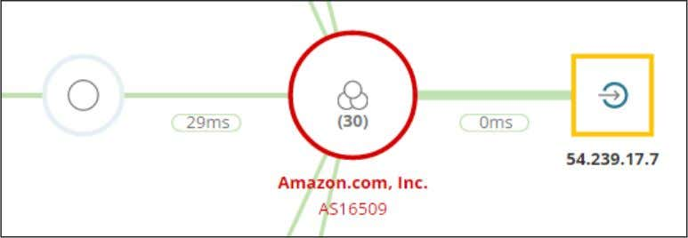 network. Click the red Amazon node to expand it. 7. Although Amazon's network is large and