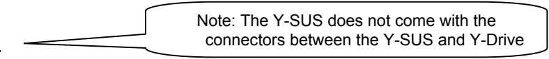 Note: The Y-SUS does not come with the connectors between the Y-SUS and Y-Drive
