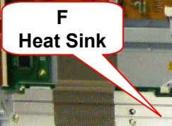 with the TCP Heat Sink removed Ground Wire F Heat Sink Warning Shorting Hazard: Condu ctive