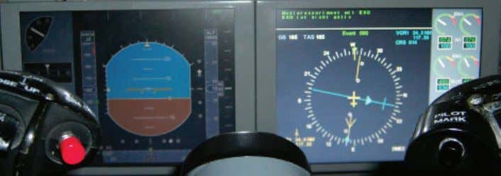 information is given. When all components of the ILS system Fig. 2. Typical primary flight display