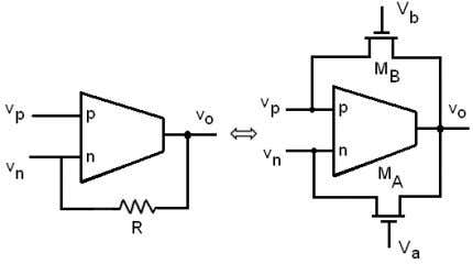 of the circuit of Fig. 5 is shown in Fig. 6(b). (a) (b) Fig. 6: MOS