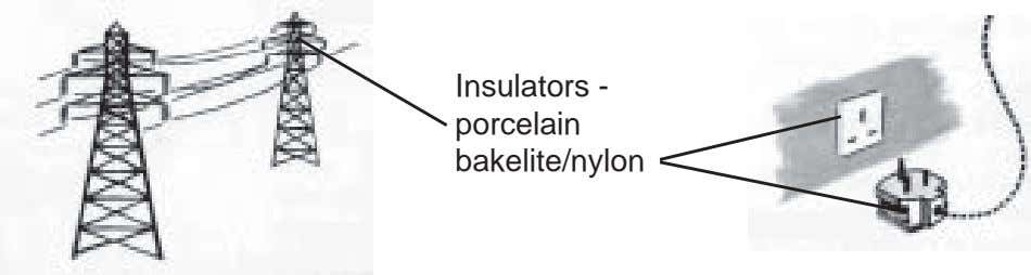 Insulators - porcelain bakelite/nylon