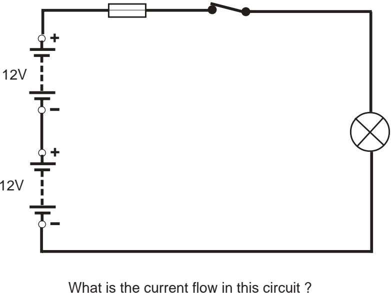 + 12V + 12V What is the current flow in this circuit ?