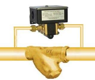 Water, Air (30bar Available) 25bar Brass or Stainless Steel GE-511 Differential Pressure Flow Switch with Adjustable