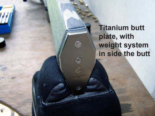 Titanium butt plate, with weight system in side the butt