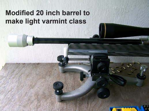 Modified 20 inch barrel to make light varmint class