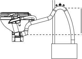 tank, dis- charge elbow always above top of the holding tank You may use a 38mm