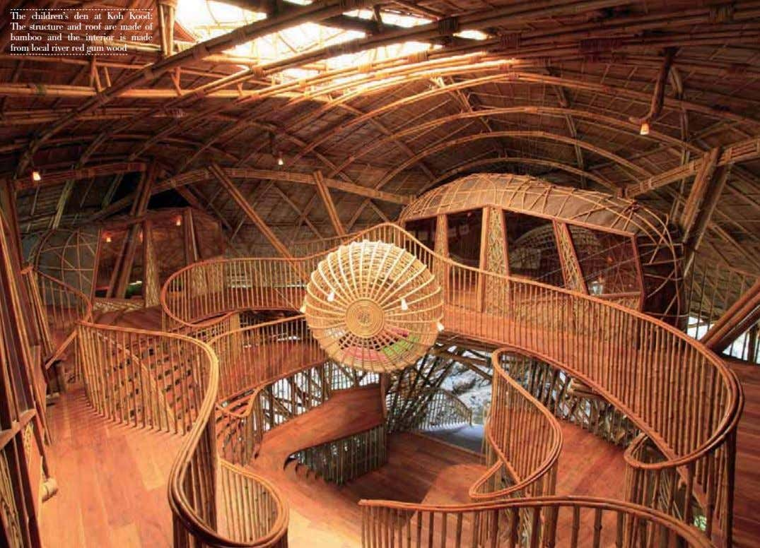 The children's den at Koh Kood: The structure and roof are made of bamboo and