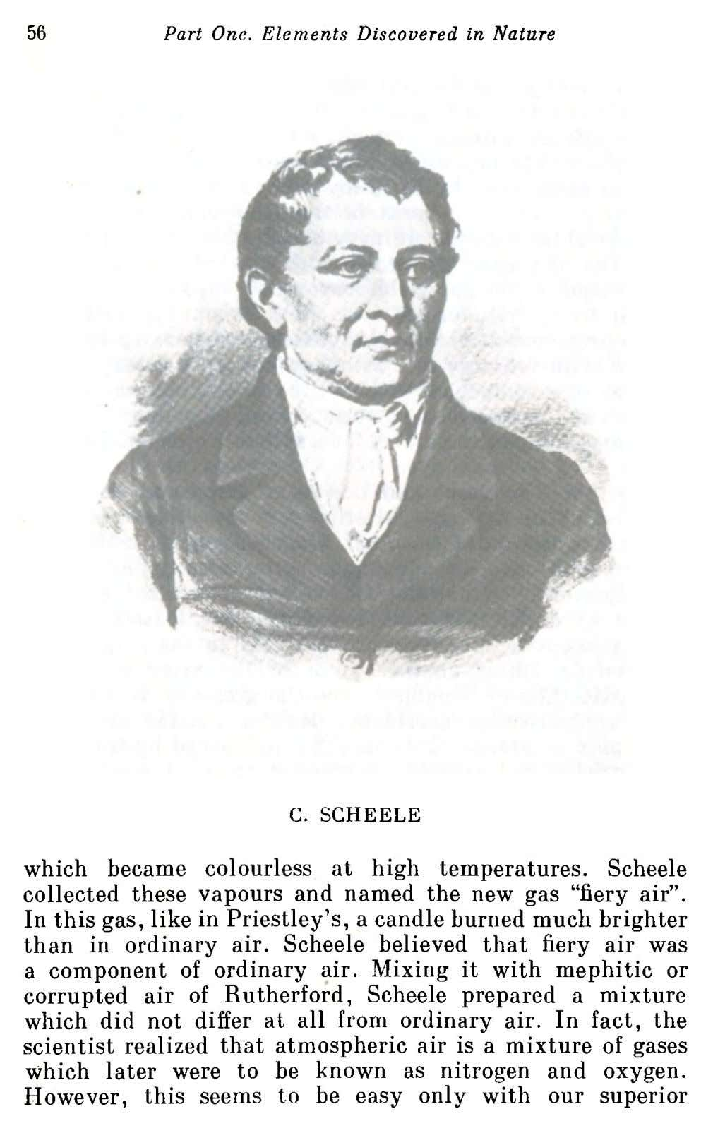 56 Part One. Elements Discovered in Nature C. SCHEELE which became colourless at high temperatures. Scheele