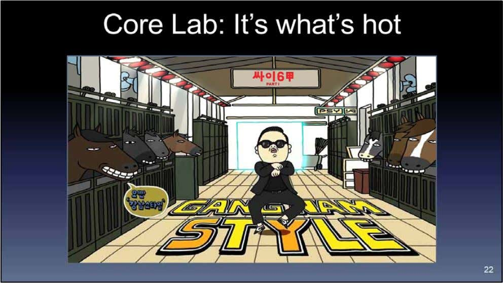 Reading the annual reports, you'd conclude that Core Lab happens to be steeped in the hottest