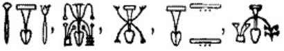 Prt m Hru) (±) (†) The Ancient Egyptian Symbols of Yoga The theme of the arrangement