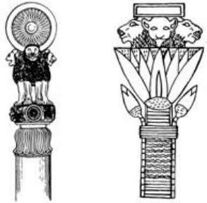the same leonine trinity concept and the multi-armed motif. The trinity symbolically relates the nature of