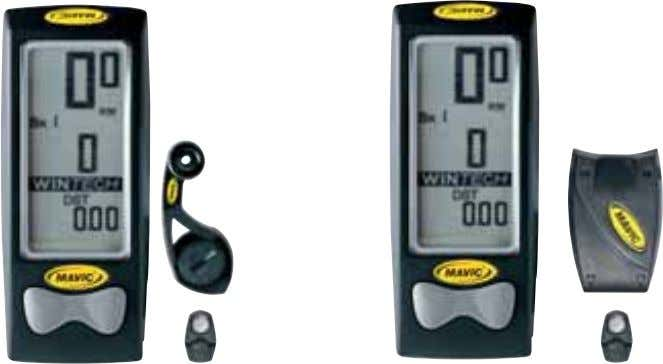 specific sections Reliable and accurate data transmission Wintech E-Bolt Ingenious speed sensor integrated into the QR