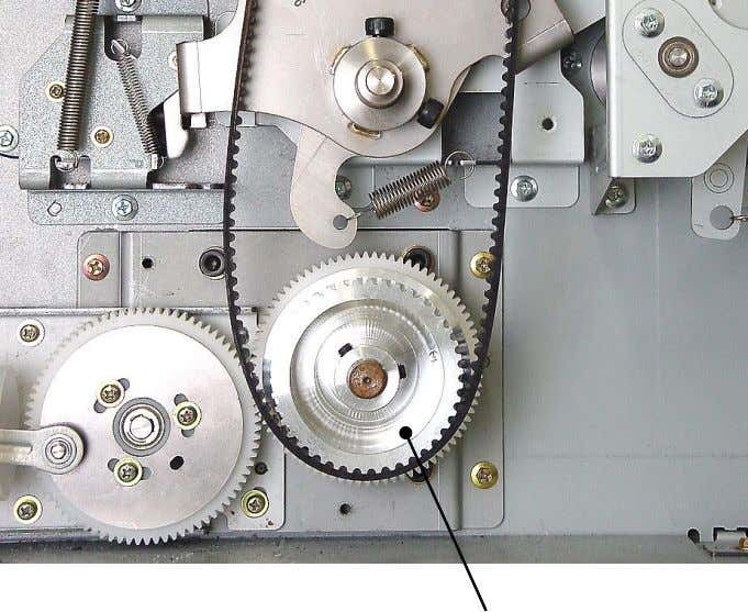 (M6x8: 2pcs), and detach the main motor pulley assembly. << Precaution in assembly >> Main motor