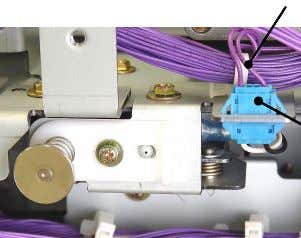 with its mounting bracket. Reusable wire harness band Switch connectors 0317 0318 < Paper feed side