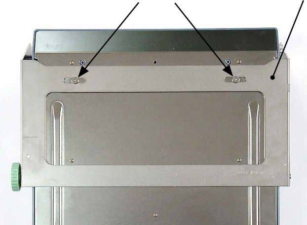 tray bottom frame. Shouldered screws Paper feed tray mount 0419 0420 < Operator side of machine