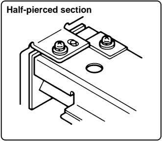 Half-pierced section