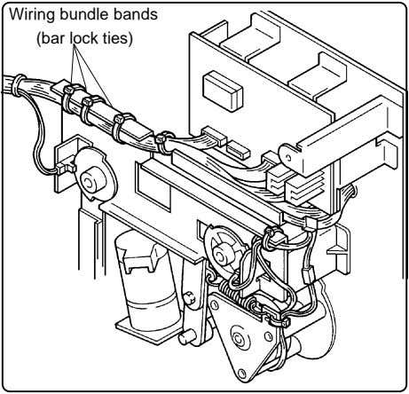 Wiring bundle bands (bar lock ties)