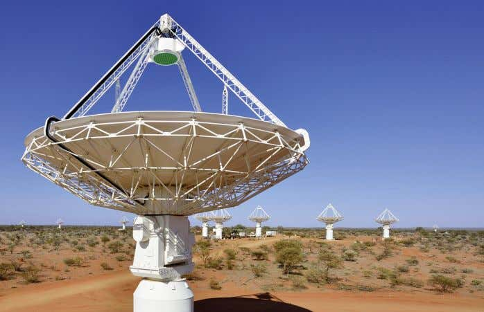 CSIRO Figure 4. 12-metre antennae of the Australian Square Kilometre Array Pathfinder in Western Australia. that