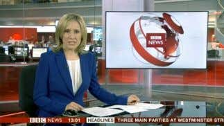 paced, the stories are each very short and the programme Fig. 1 BBC News Presenter (2013)