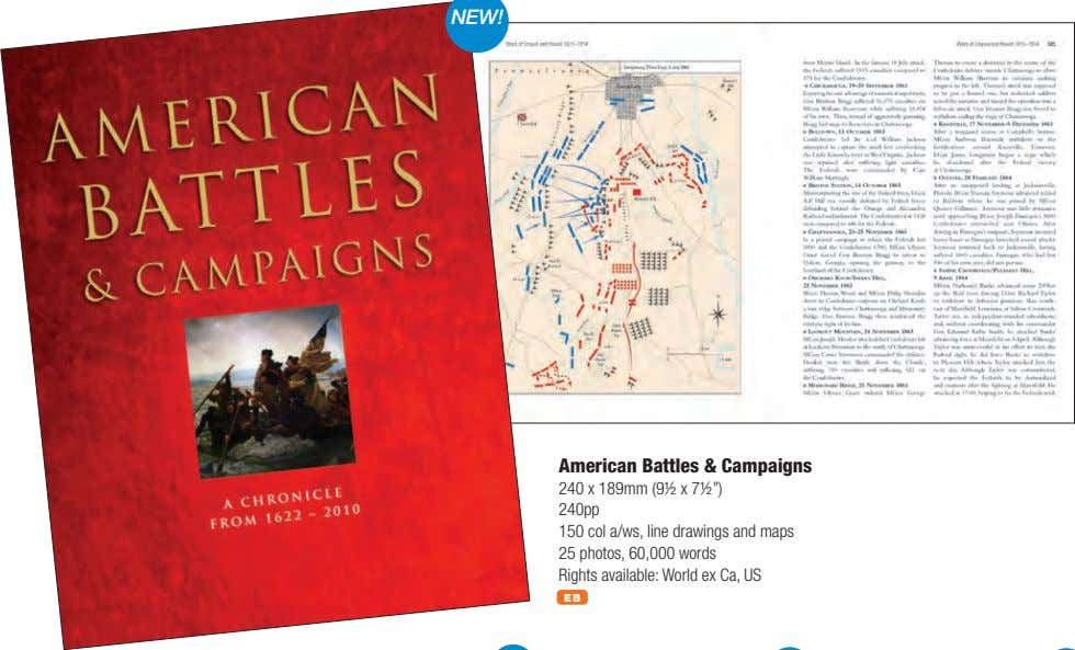 "American Battles & Campaigns 240 x 189mm (9½ x 7½"") 240pp 150 col a/ws, line"