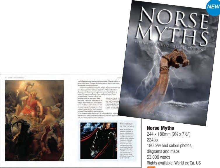 "Norse Myths 244 x 186mm (9¾ x 7½"") 224pp 180 b/w and colour photos, diagrams"