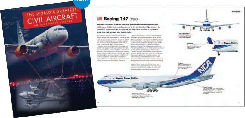 whether carrying passengers or deployed in wars. NEW! The World's Greatest Civil Aircraft 297 x 227mm