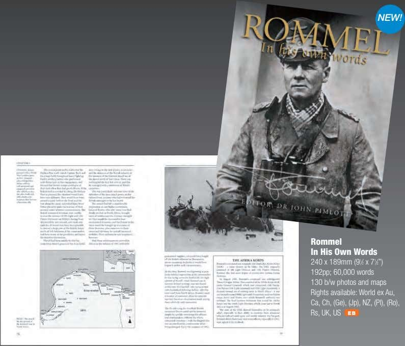 NEW! Rommel In His Own Words 240 x 189mm (9 1 ⁄2 x 7 1