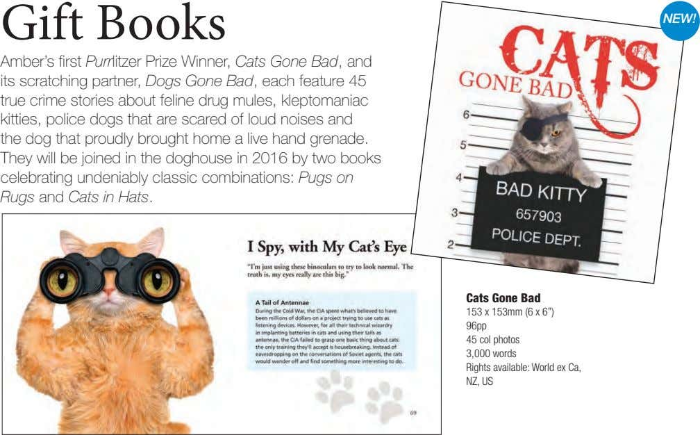 Gift Books NEW! Amber's first Purrlitzer Prize Winner, Cats Gone Bad, and its scratching partner,