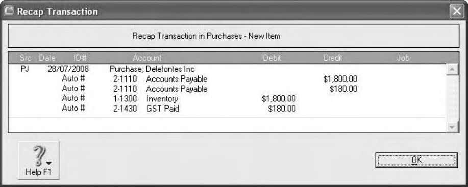Computer accounting using MYOB business software 15. The Total column should show the extension of $1,980.00.