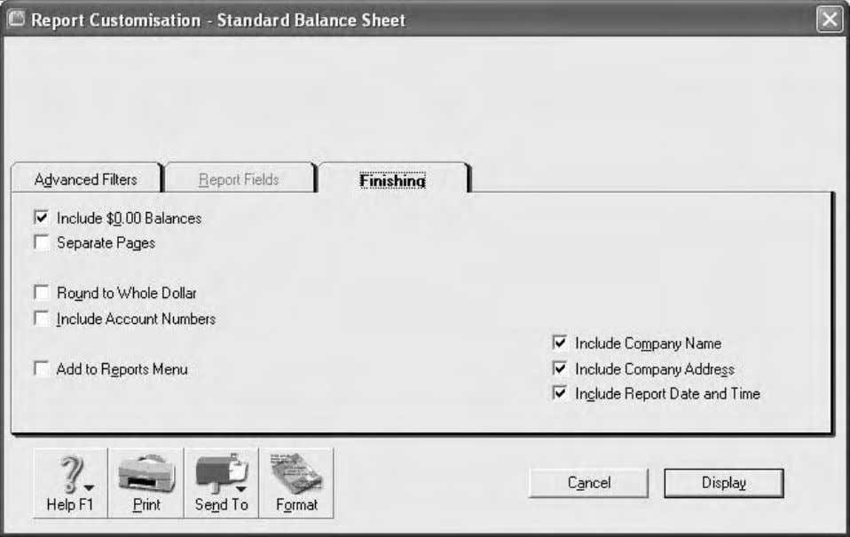 Computer accounting using MYOB business software Figure 1.29: Report Customisation – Advanced Filters for a balance