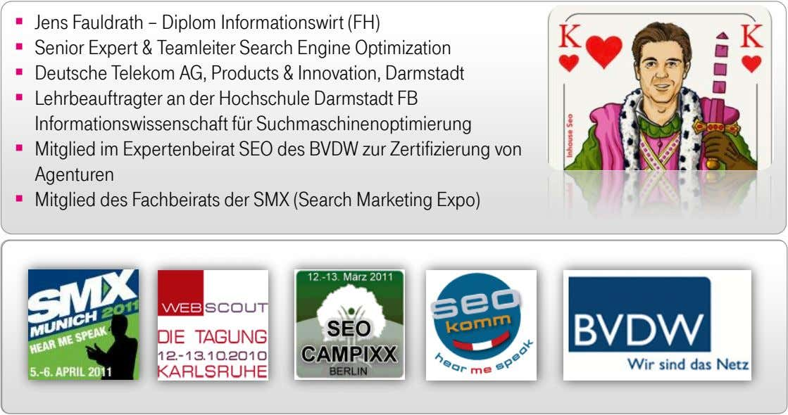  Jens Fauldrath – Diplom Informationswirt (FH)  Senior Expert & Teamleiter Search Engine Optimization