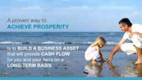 way to achieve prosperity is to build a business asset that will provide you with long-term