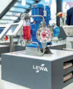 products as the screws do not touch. www.lewa.com The Ecosmart diaphragm metering pump from Lewa GmbH.