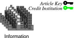 Article Key Credit Institution Information