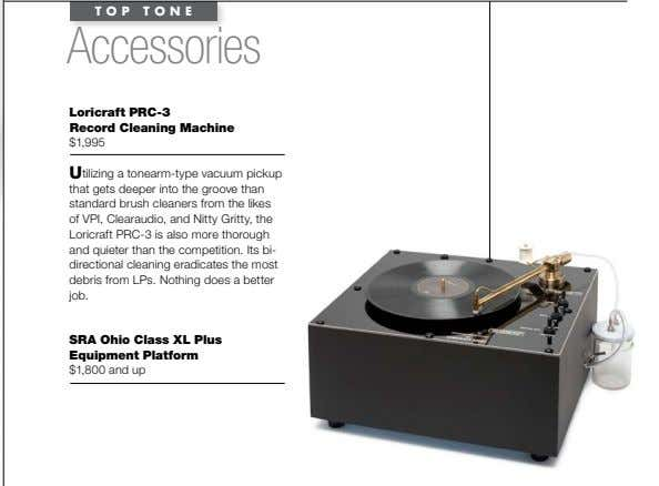 TOP TONE Accessories loricraft PrC-3 record Cleaning machine $1,995 Utilizing a tonearm-type vacuum pickup that