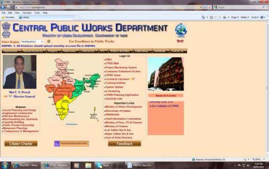 and then click Project Monitoring System or http://www.cpwdpms.gov.in Info Jyothi Software Consultancy, Chennai Page 21