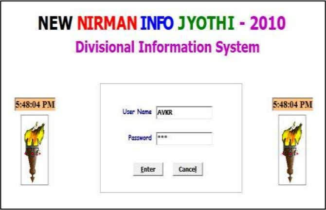 NEW DELHI Enter the User Name and Password and click Enter Select the Current Financial Year