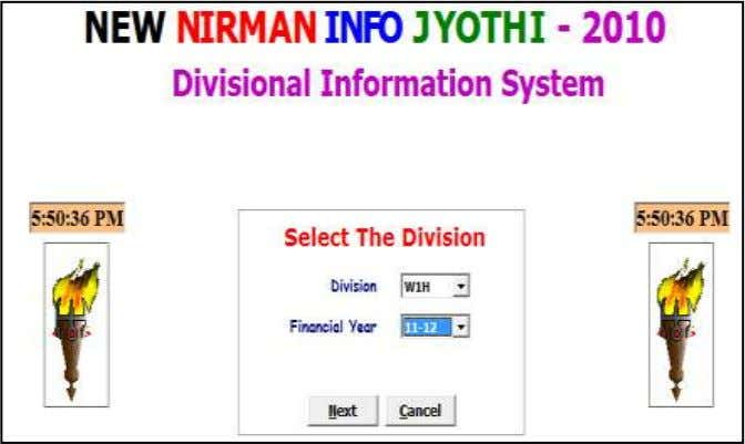 Financial Year Select Division and Financial Year and Click Next Info Jyothi Software Consultancy, Chennai Page