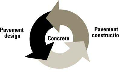 of a good-quality concrete mix depends on the specific Figure 1-1. Concrete pavement construction is an