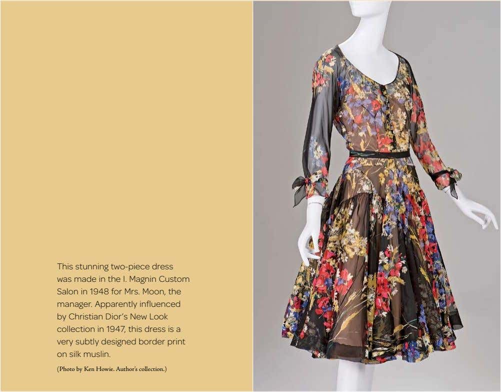 This stunning two-piece dress was made in the I. Magnin Custom Salon in 1948 for