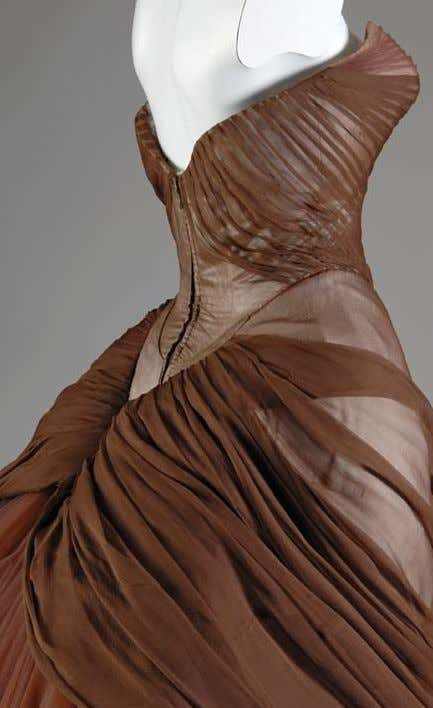 "The ""Swan"" ball gown from 1954, like many others by Charles James, is heavily boned"