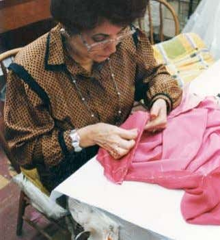 modified again and again until the couturier is satisfied. In the New York workroom at Scaasi,